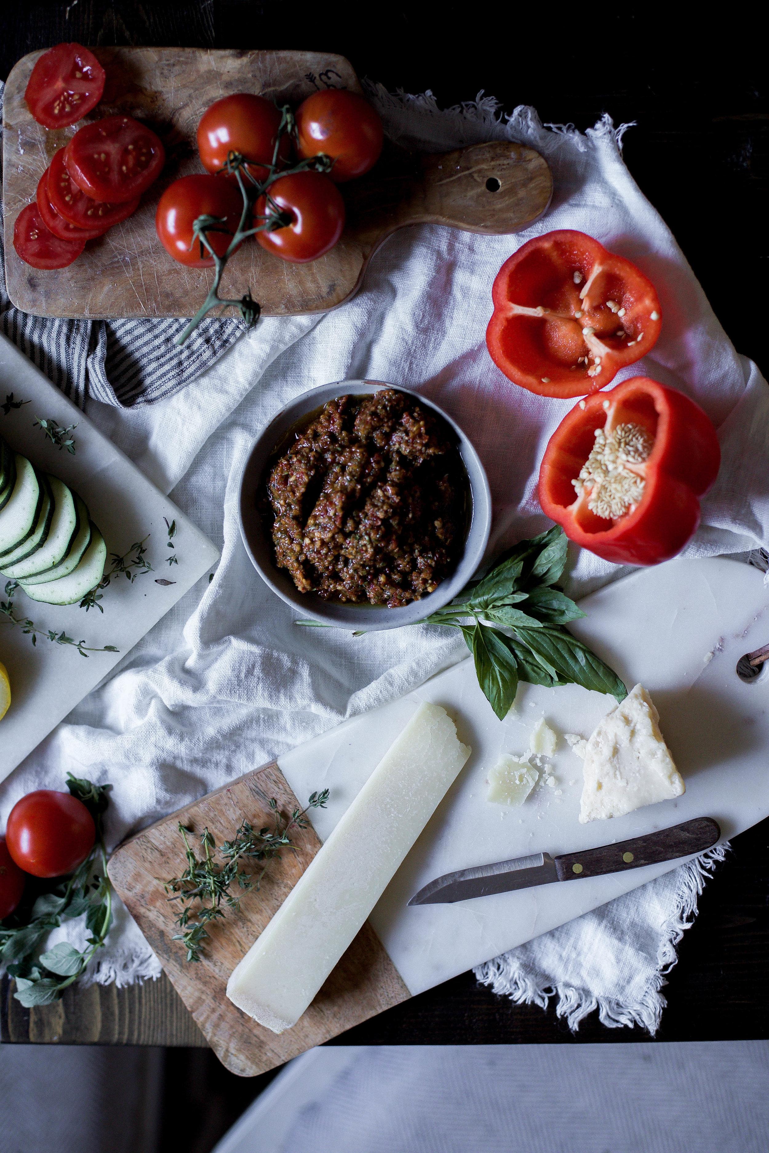 sun dried tomato basil pesto ratatouille {provencal tian} (3 of 1).jpg