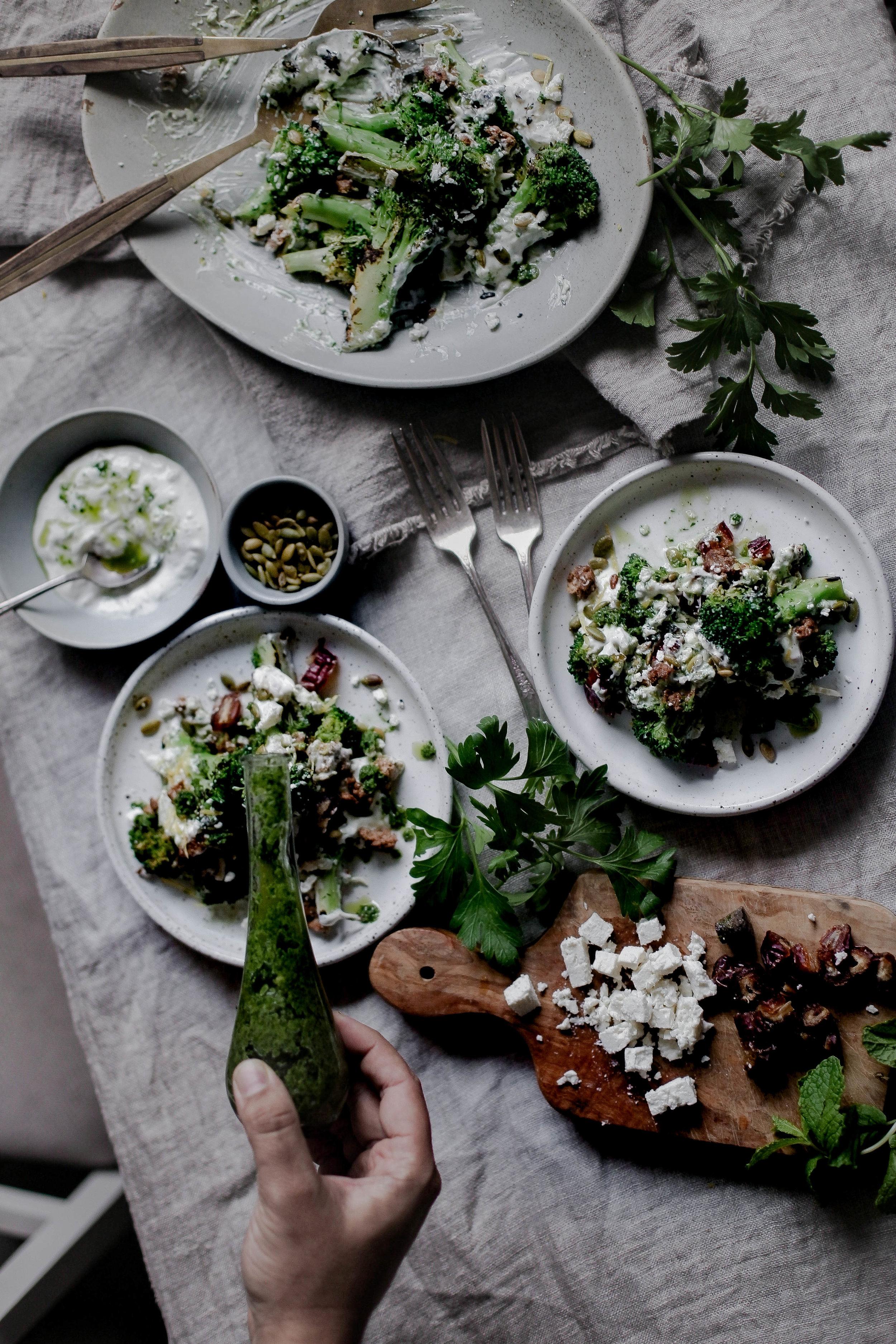 charred broccoli and chorizo with lemon shallot yogurt and jalapeno herb oil (17 of 1).jpg