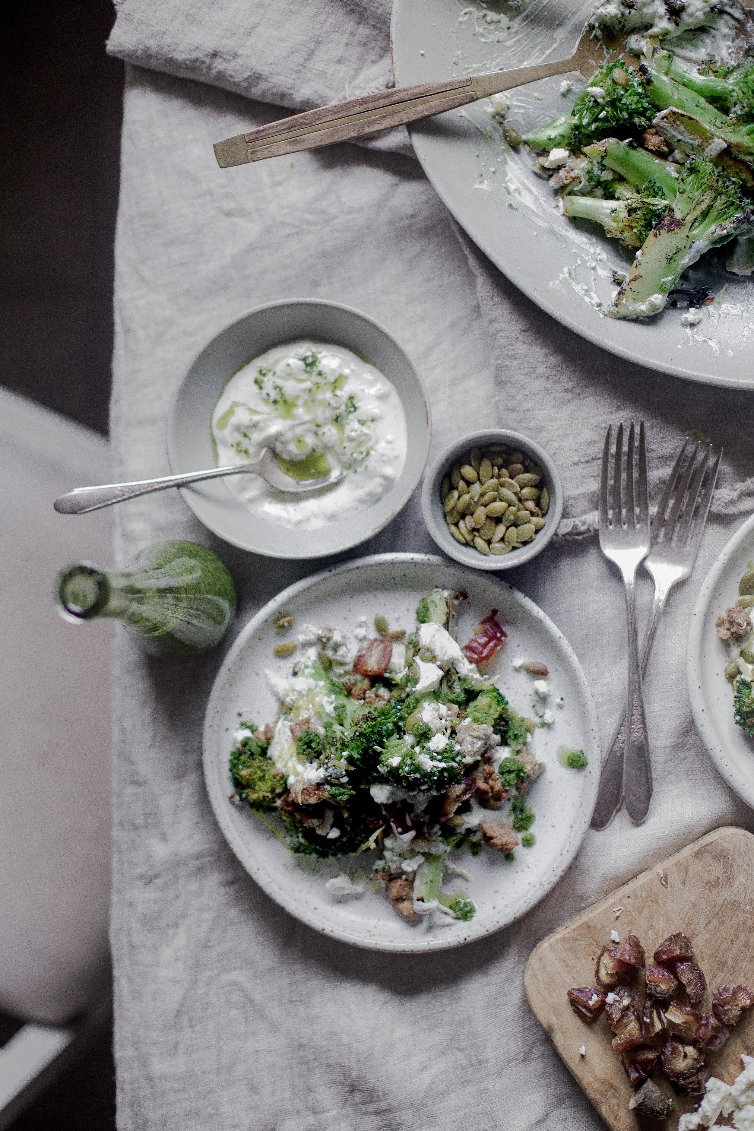 charred broccoli and chorizo with lemon shallot yogurt and jalapeno herb oil (32 of 1).jpg