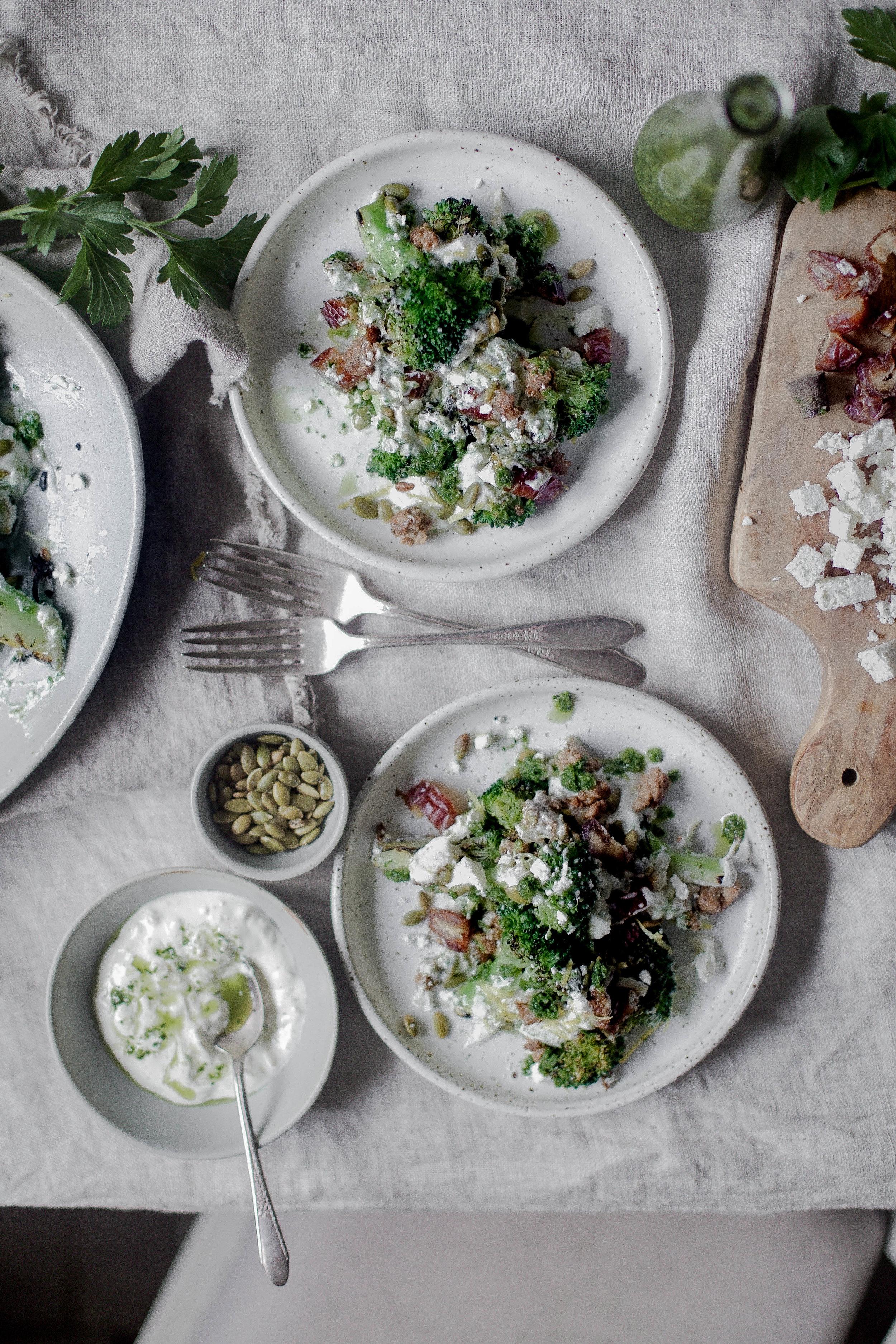charred broccoli and chorizo with lemon shallot yogurt and jalapeno herb oil (30 of 1).jpg