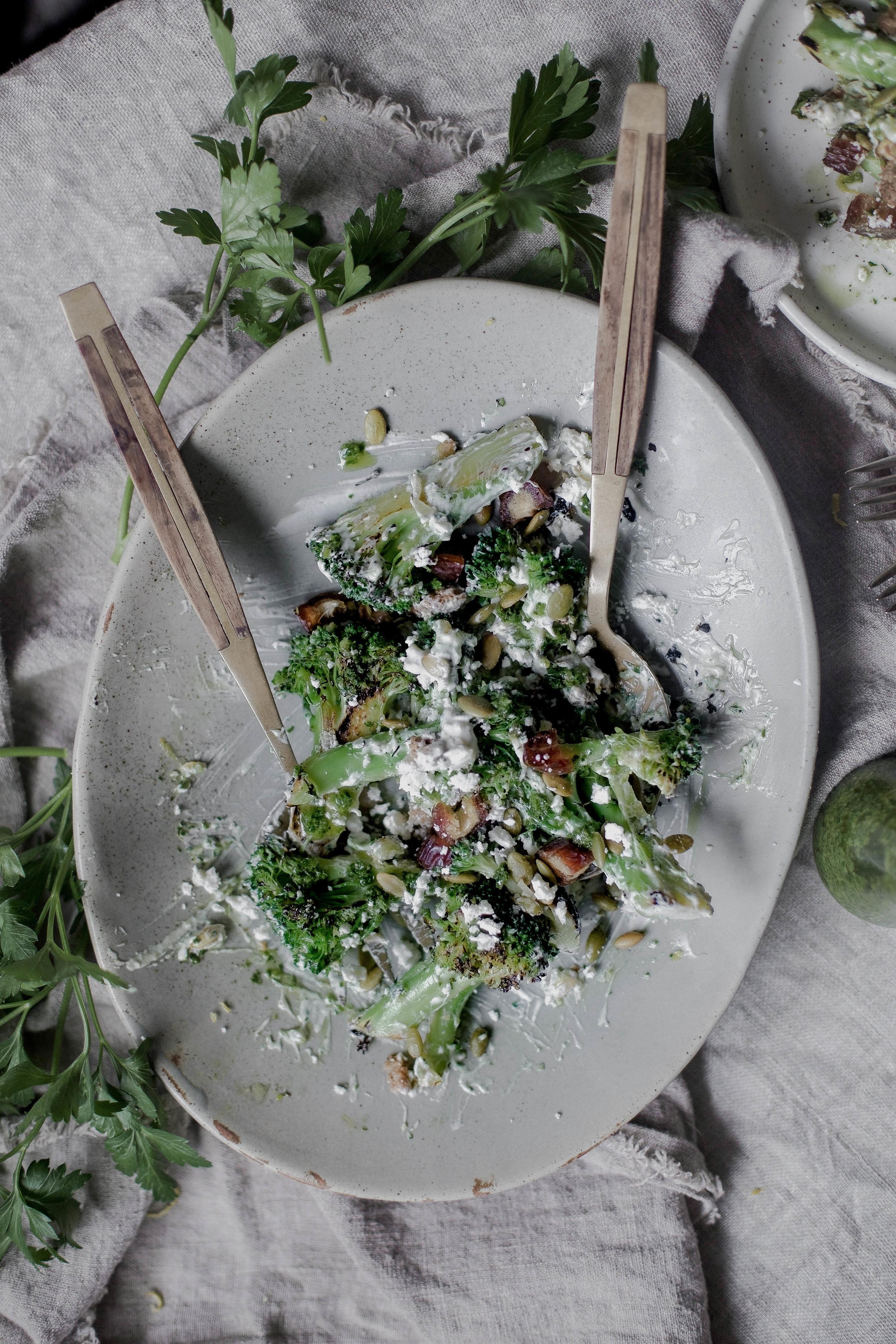 charred broccoli and chorizo with lemon shallot yogurt and jalapeno herb oil (35 of 1).jpg