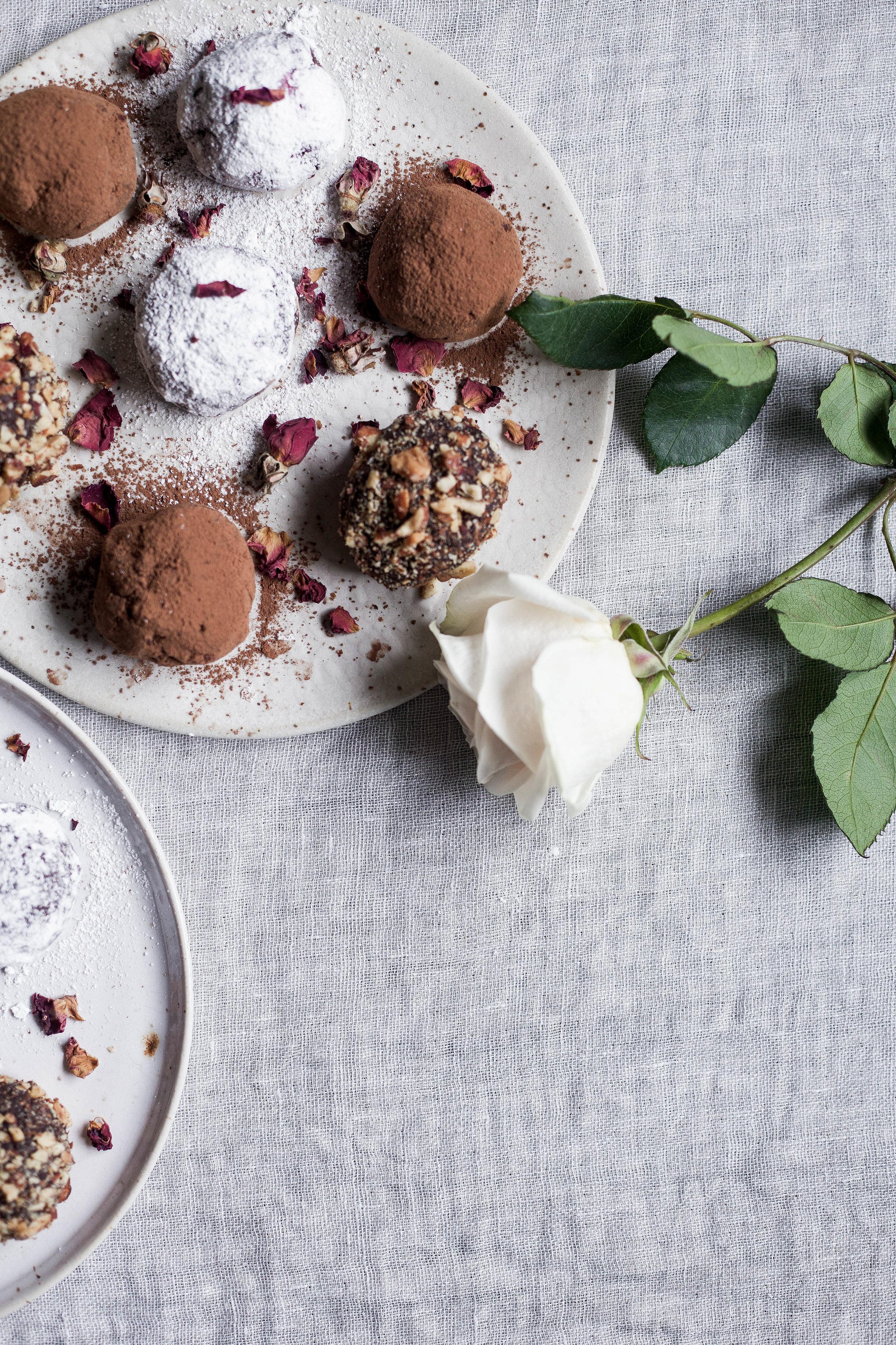 raspberry filled dark chocolate truffles coated three ways (16 of 1).jpg