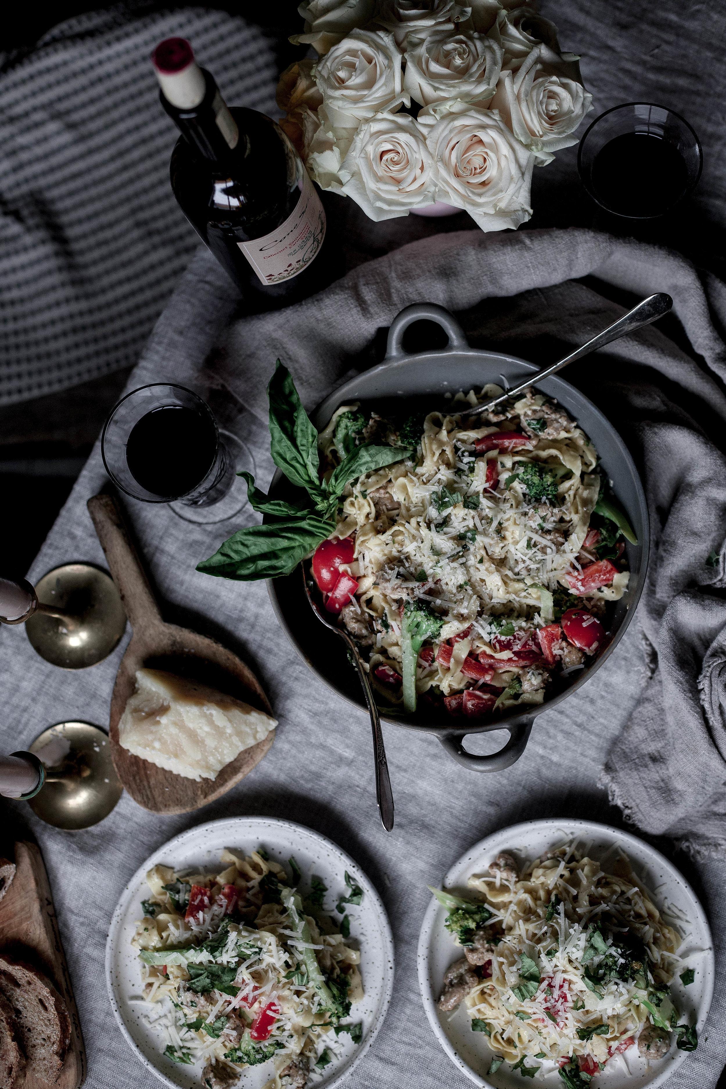 homemade fettuccine with chorizo, red pepper & broccoli cream sauce (36 of 1).jpg