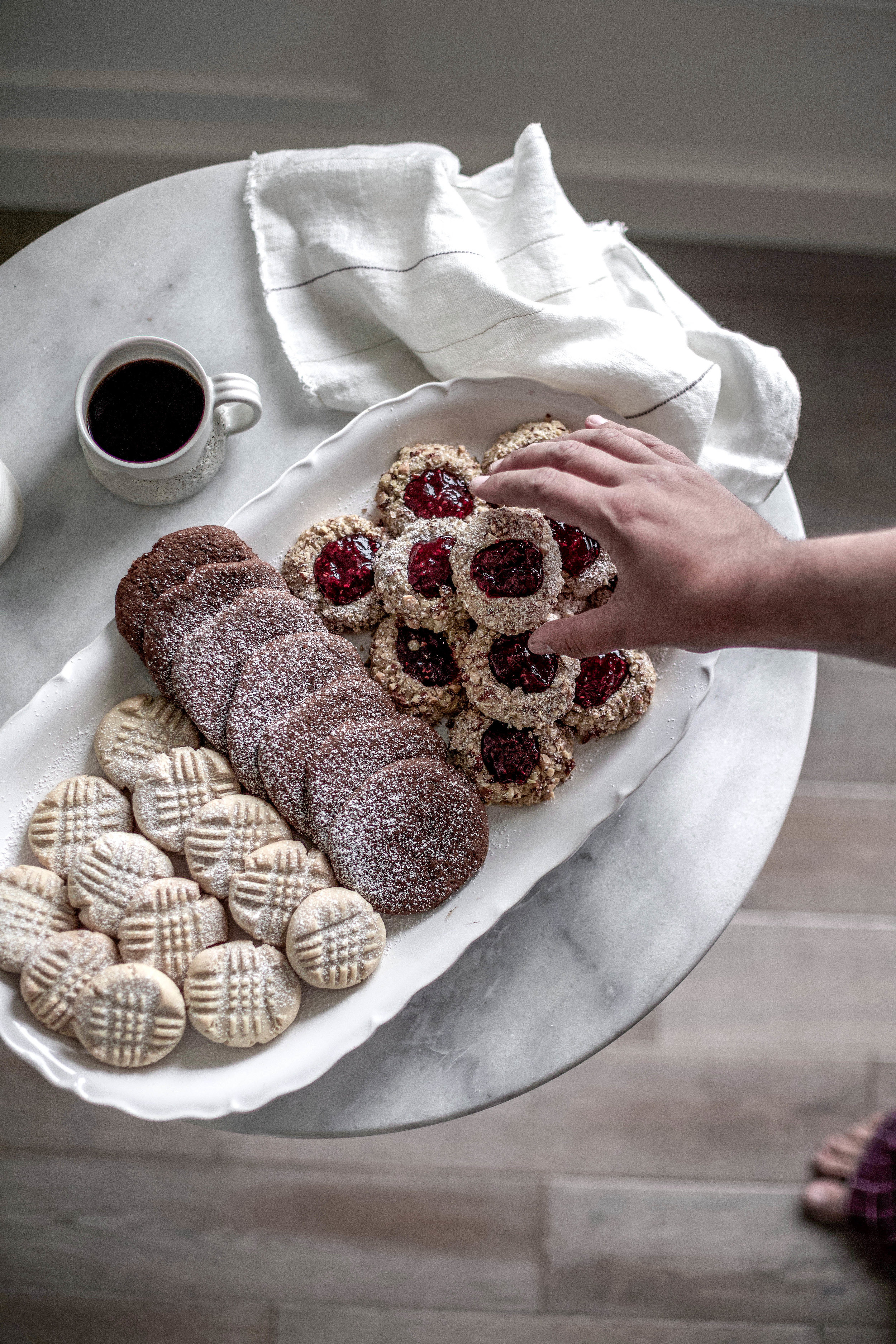 classic christmas cookies; jam thumbprints, chewy gingergbread, buttery shortbread (20 of 1).jpg