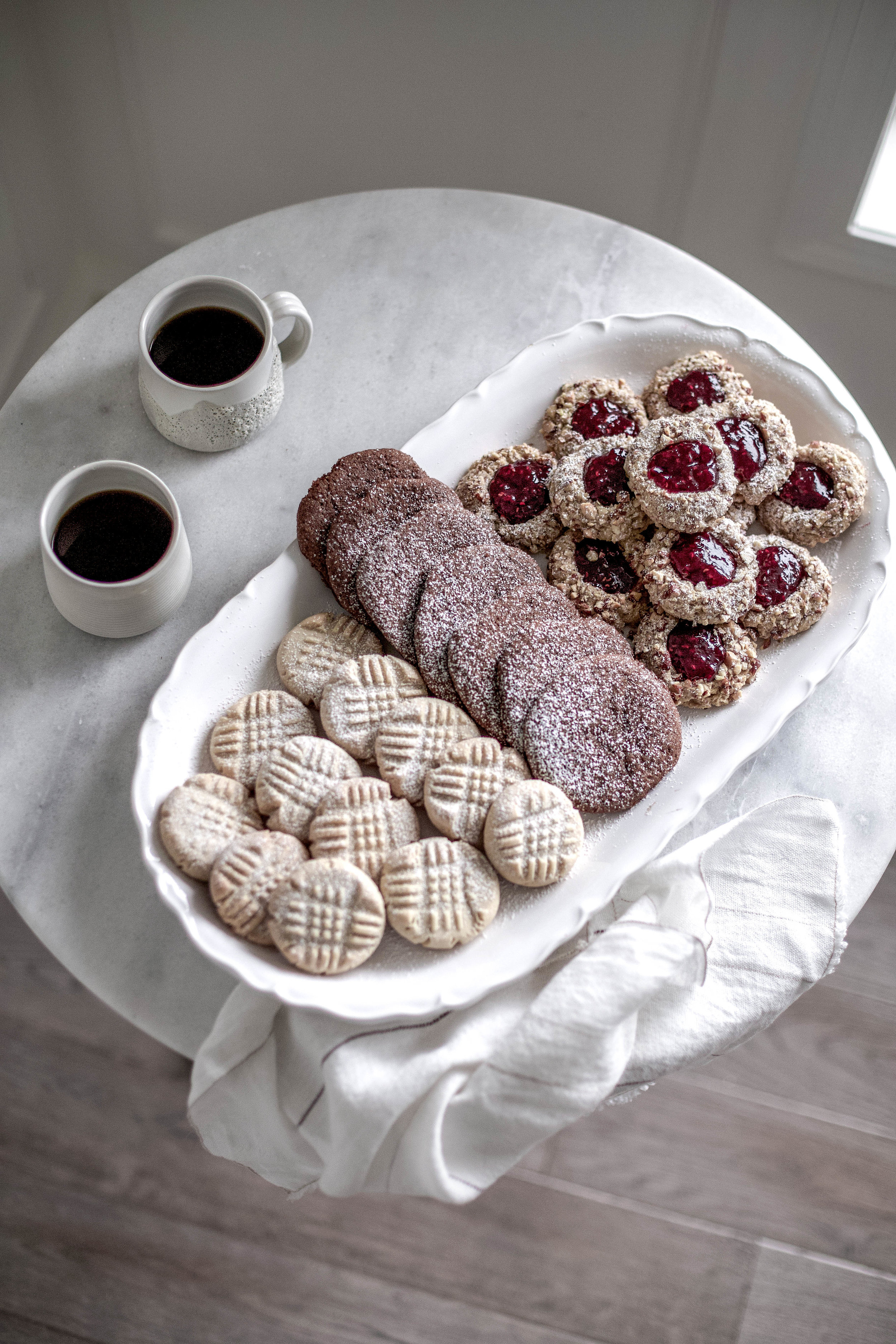 classic christmas cookies; jam thumbprints, chewy gingergbread, buttery shortbread (16 of 1).jpg