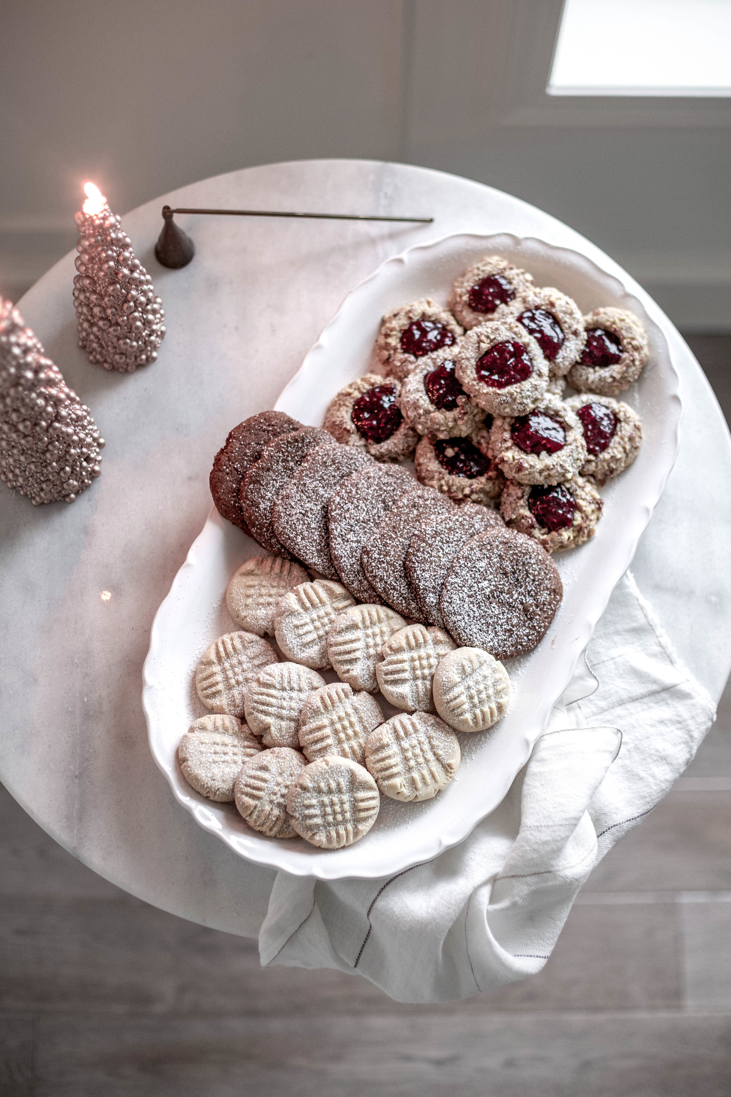 classic christmas cookies; jam thumbprints, chewy gingergbread, buttery shortbread (12 of 1).jpg