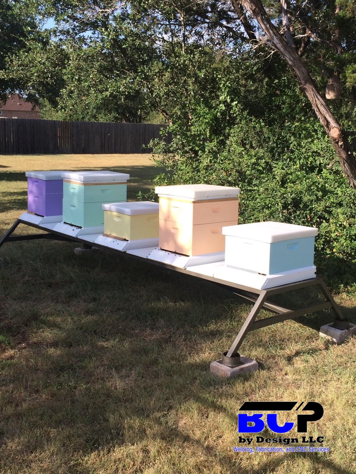 Hive Stand Designs : Bee c hive stands bee hive stand honey bee stand metal hive