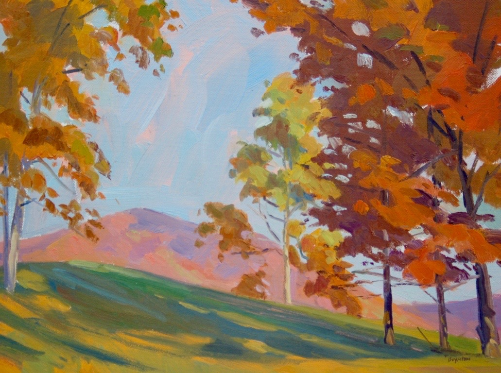 Demonstration during a fall painting retreat at Watersong --Bedford, Virginia