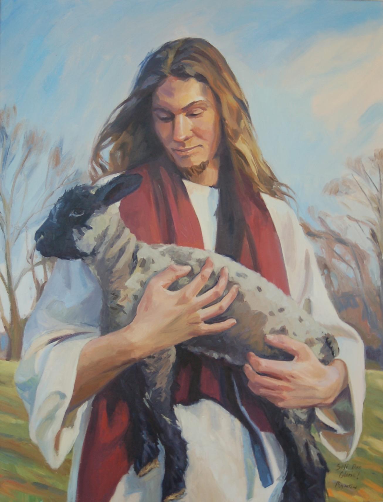 The Good Shepherd, oil painting by Lee Boynton