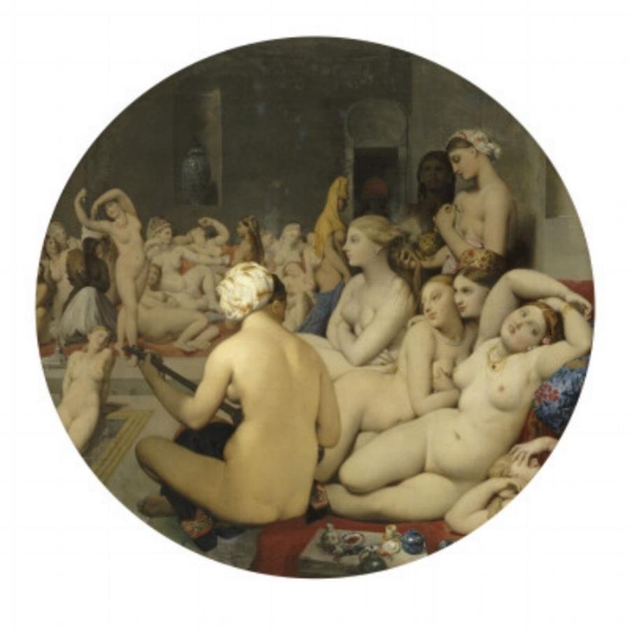 The Turkish Bath -women in a harem - 1862