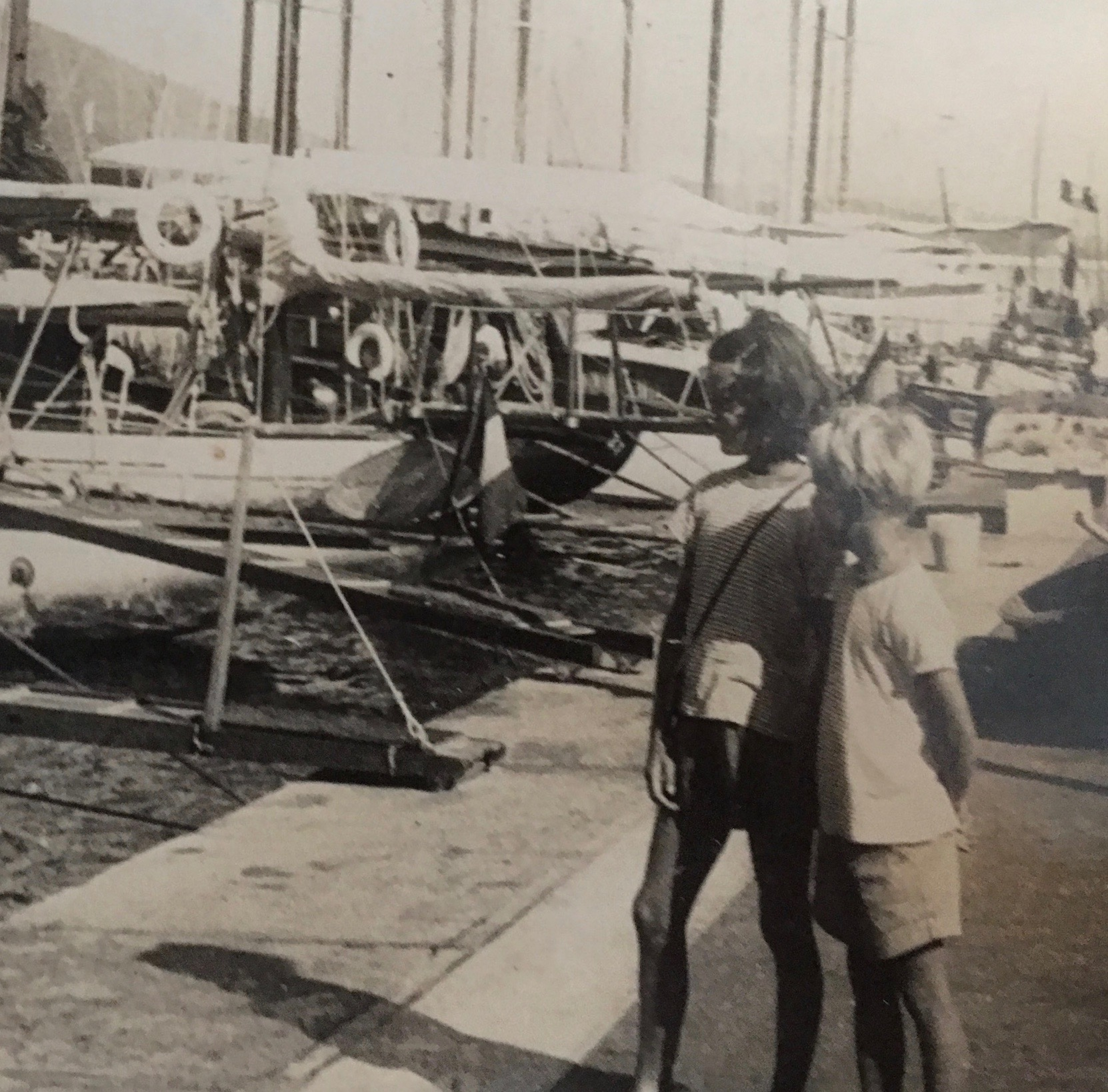 ME AND MY BROTHER - ON THE PORT 1957