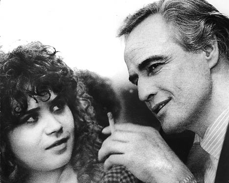 MARIA SCHNEIDER - A FEW YEARS LATER - WITH BRANDO in 'LAST TANGO IN PARIS'