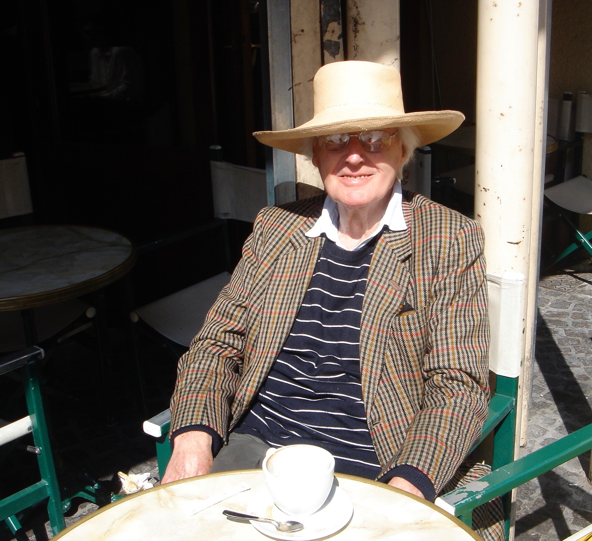 MY FATHER IN FRANCE, IN HIS VACATION CLOTHES