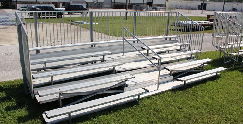 Non-Elevated Aluminum Bleacher Seating