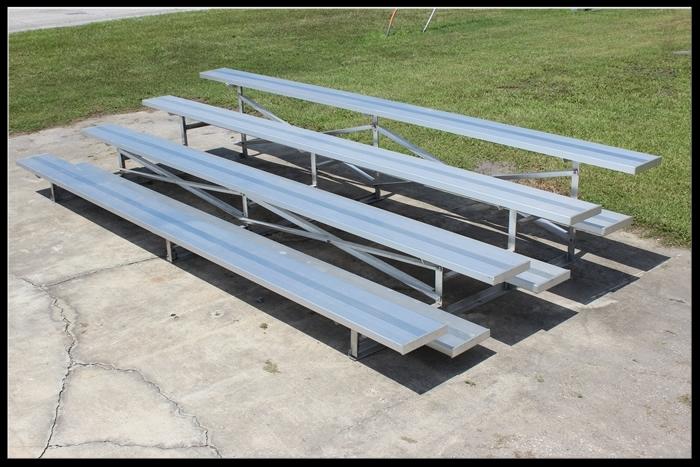 4-Row Aluminum Bleacher