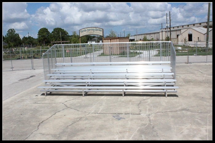 5 Row Non-Elevated Aluminum Bleacher (w/o aisle)   Click here for free, printable CAD drawings!