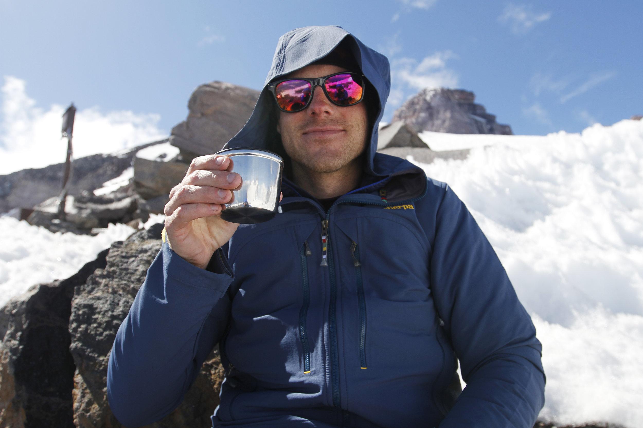 Tea time at 10,188 feet.