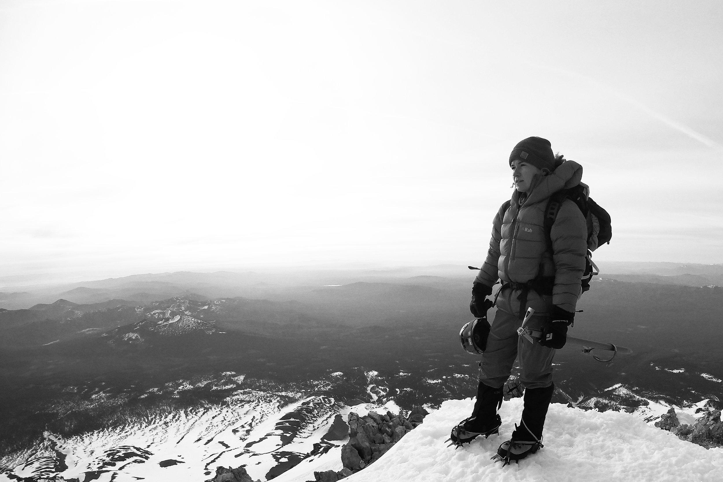 On the summit of Mt. Shasta, the second-tallest peak in the Cascade Range at 14,180 feet. | Photo by Jon Haas