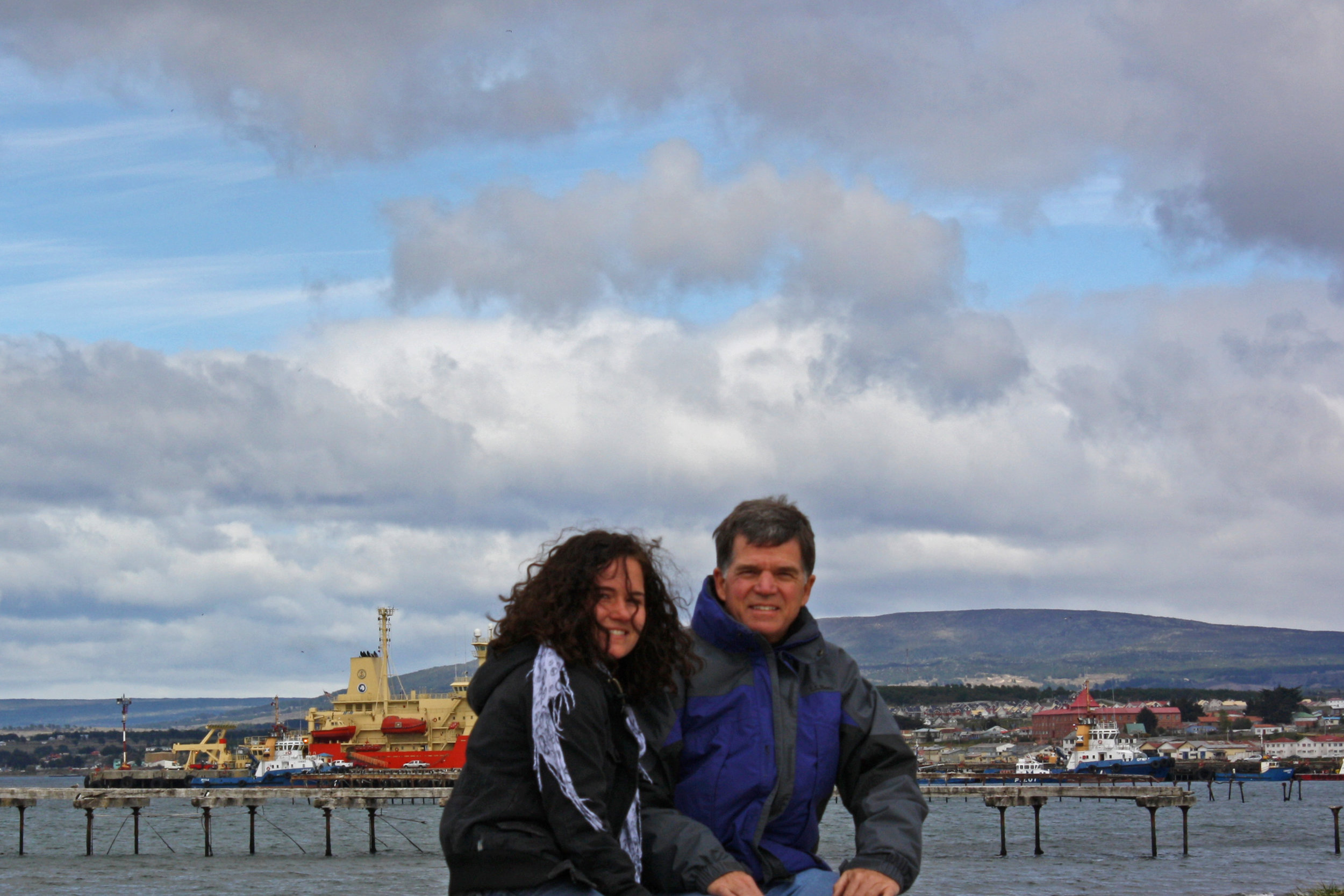 In Punta Arenas with Dad in 2009.