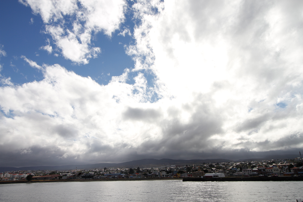 After a rainy morning, blue skies and abundant sunshine burst through the clouds during our second afternoon in Punta Arenas, Chile.