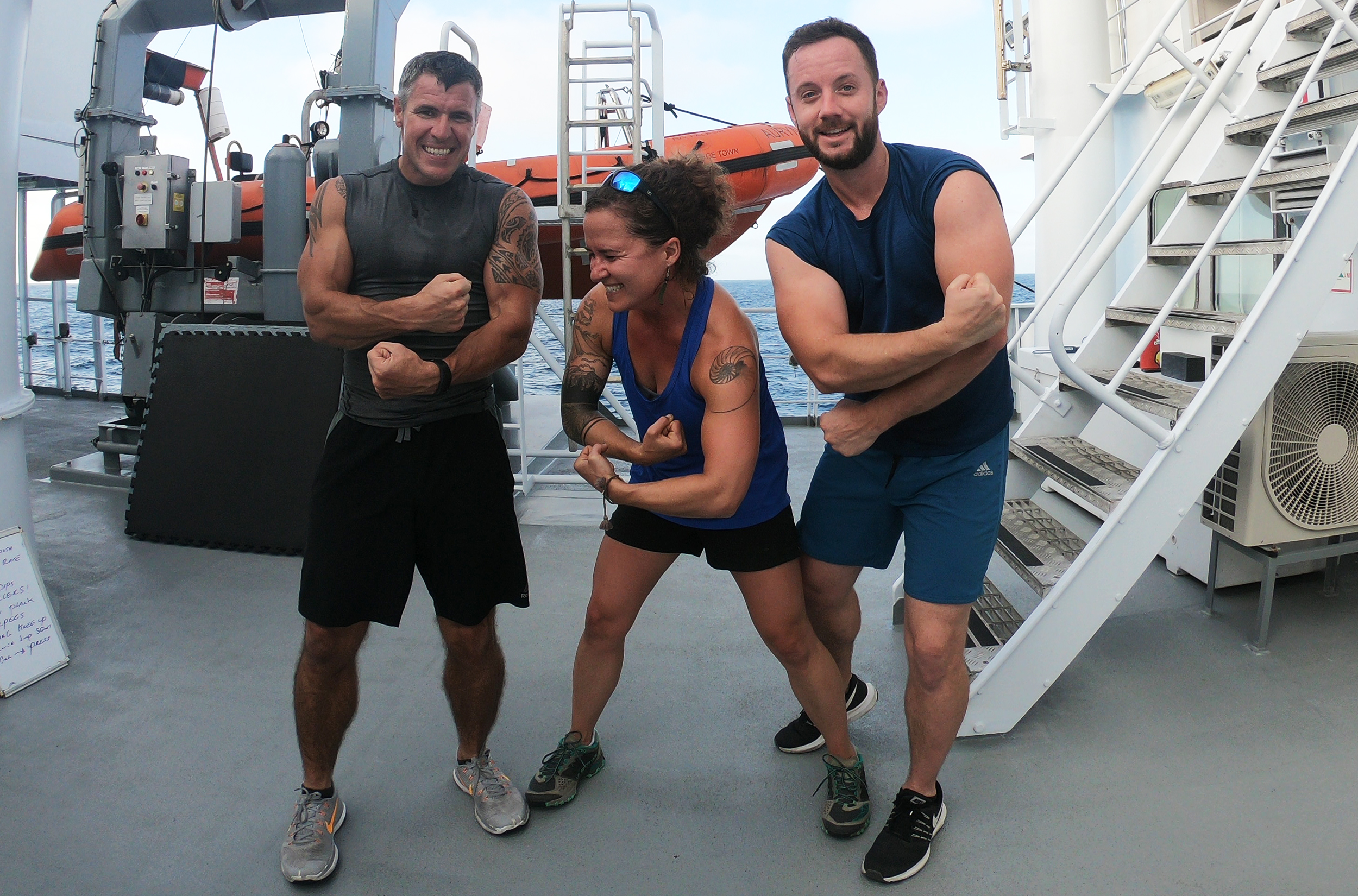 So swole.  Working out with these guys keeps me strong and sane.