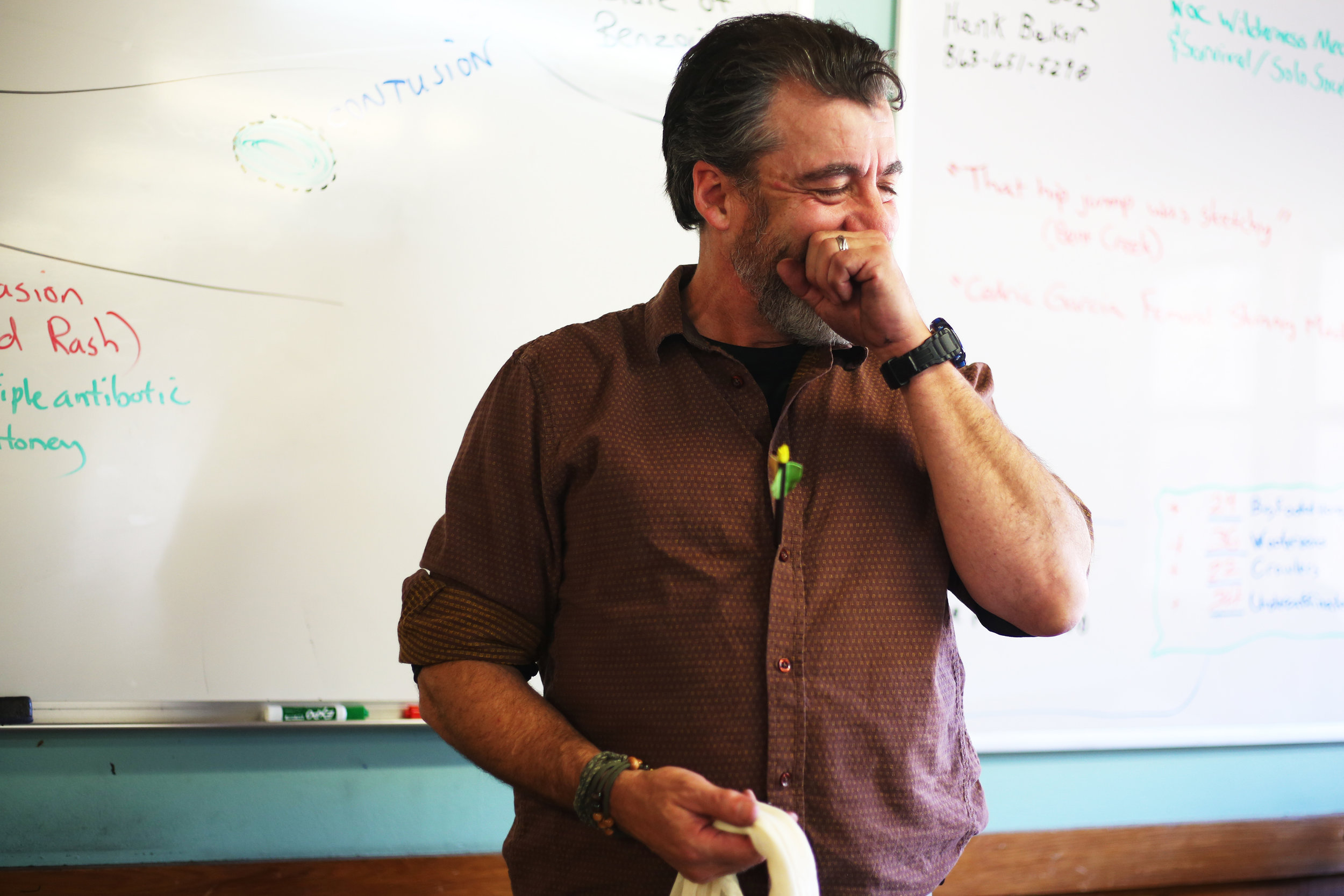 I promise it won't be boring!  Randy Manuel is a man of many professions and talents: experienced EMT, thorough instructor of wilderness medicine, and the best sense of humor this side of the Mississippi.