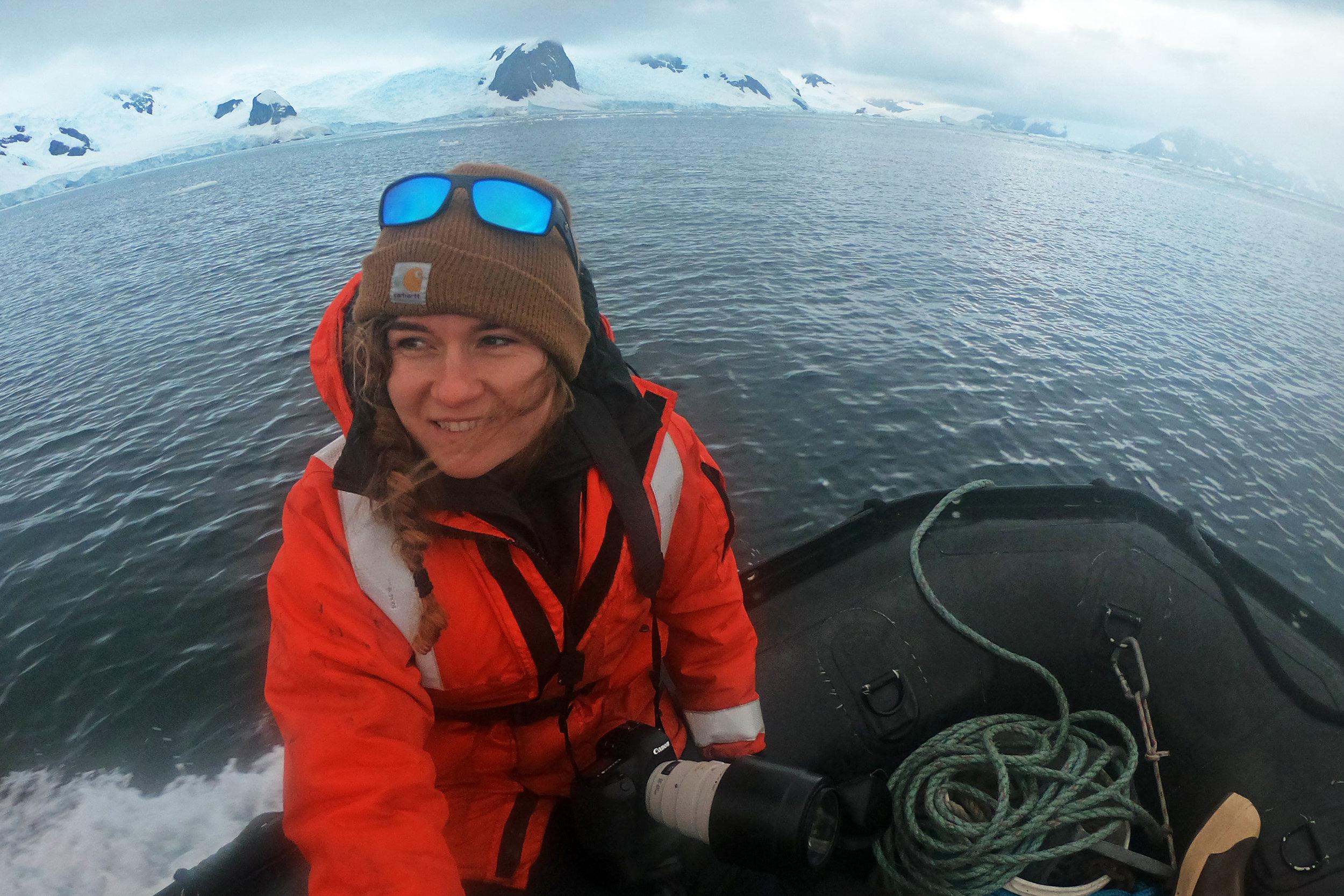 Working in Andvord Bay, Antarctica.