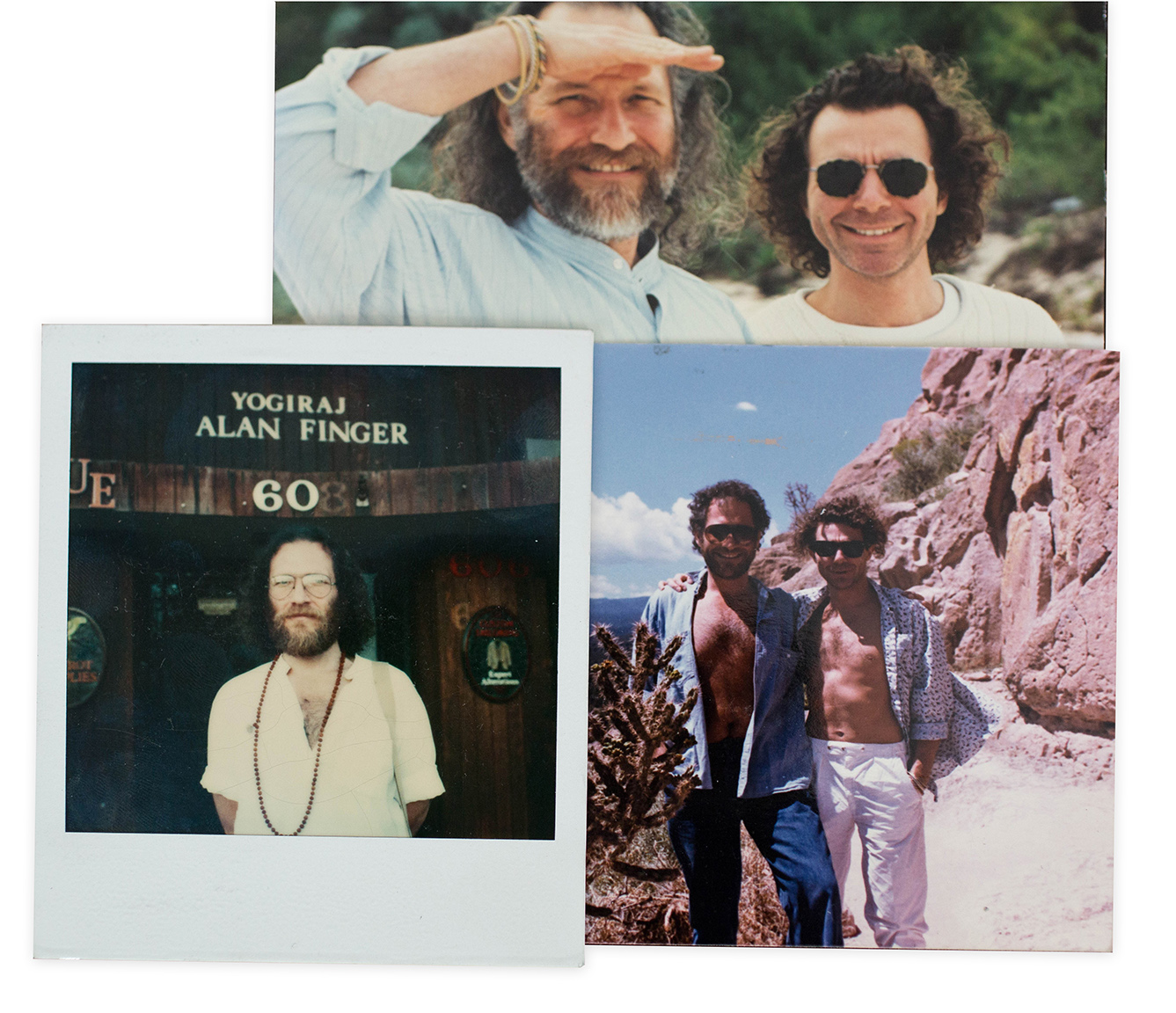 Michael with Alan Finger in New Mexico, and Alan's yoga studio in LA.