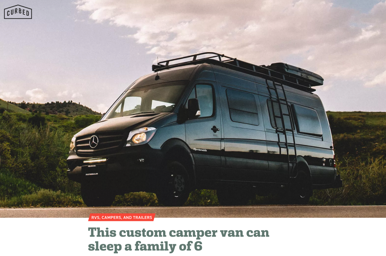 One of our favorite reads… - We love this family oriented take on van life with plenty of gorgeous photos of their Sportsmobile 170 Sprinter van conversion.