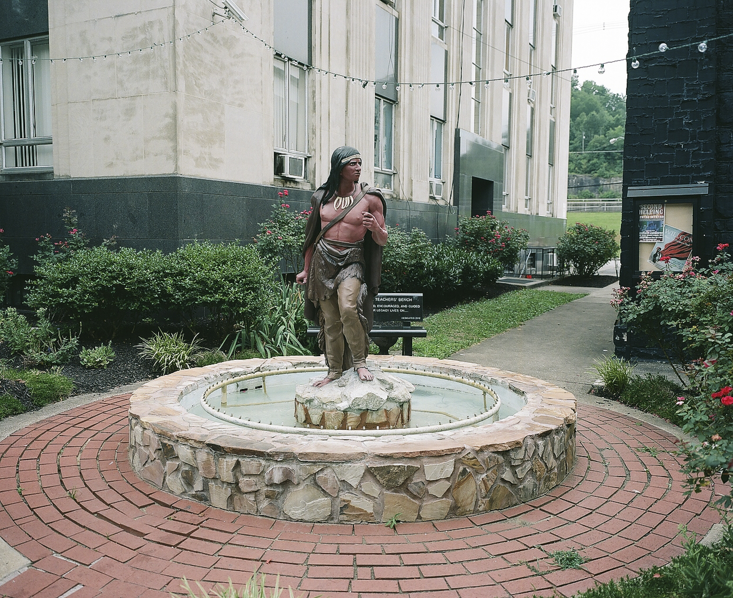 Logan statue outside the Mingo County courthouse, Williamson, West Virginia.