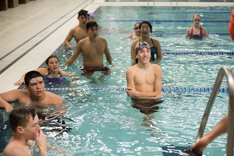 Bethel Regiona High School's FIRST swim team fall 2017