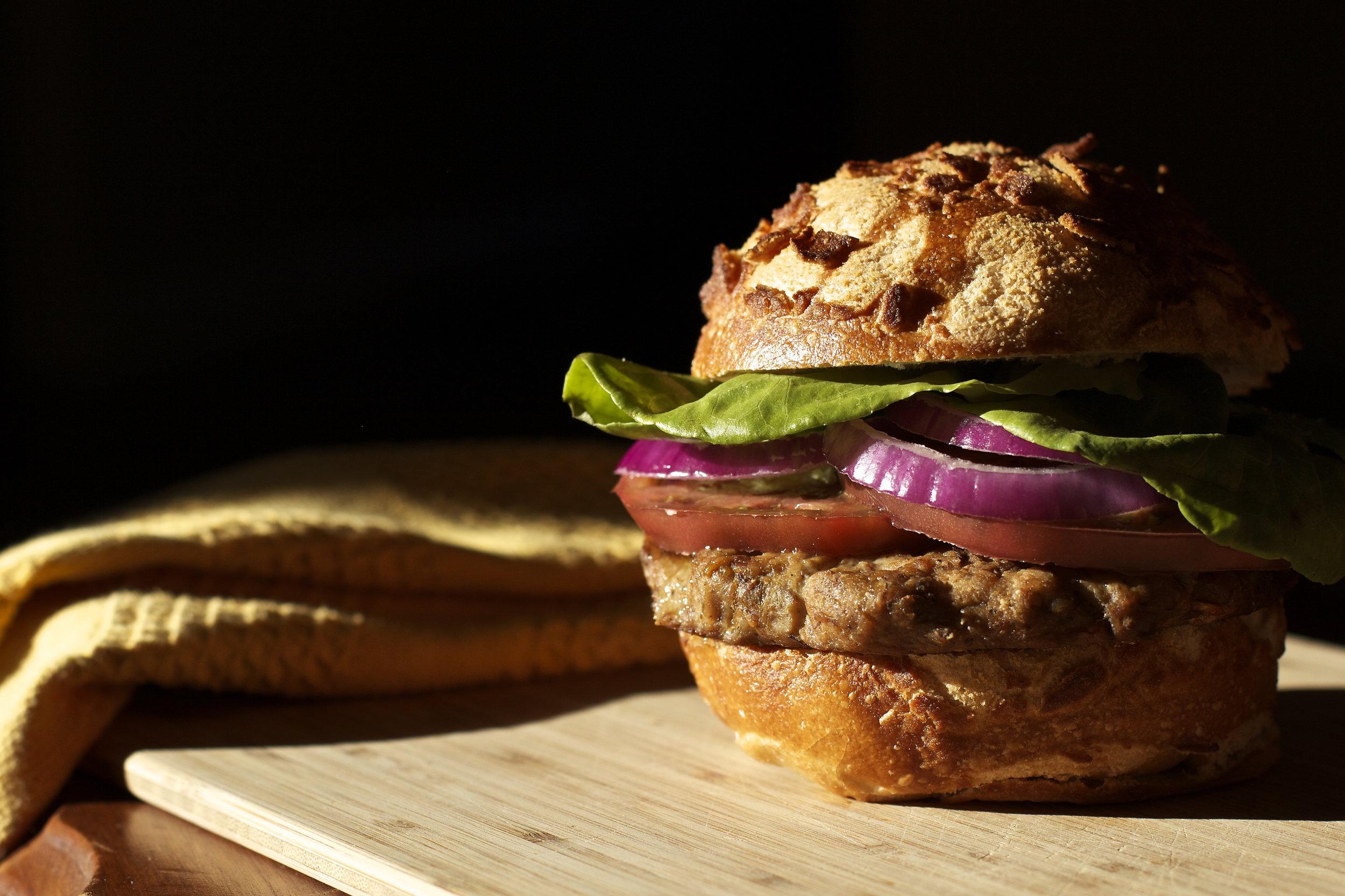 Lion's Mane Mushroom and Ginger Burgers