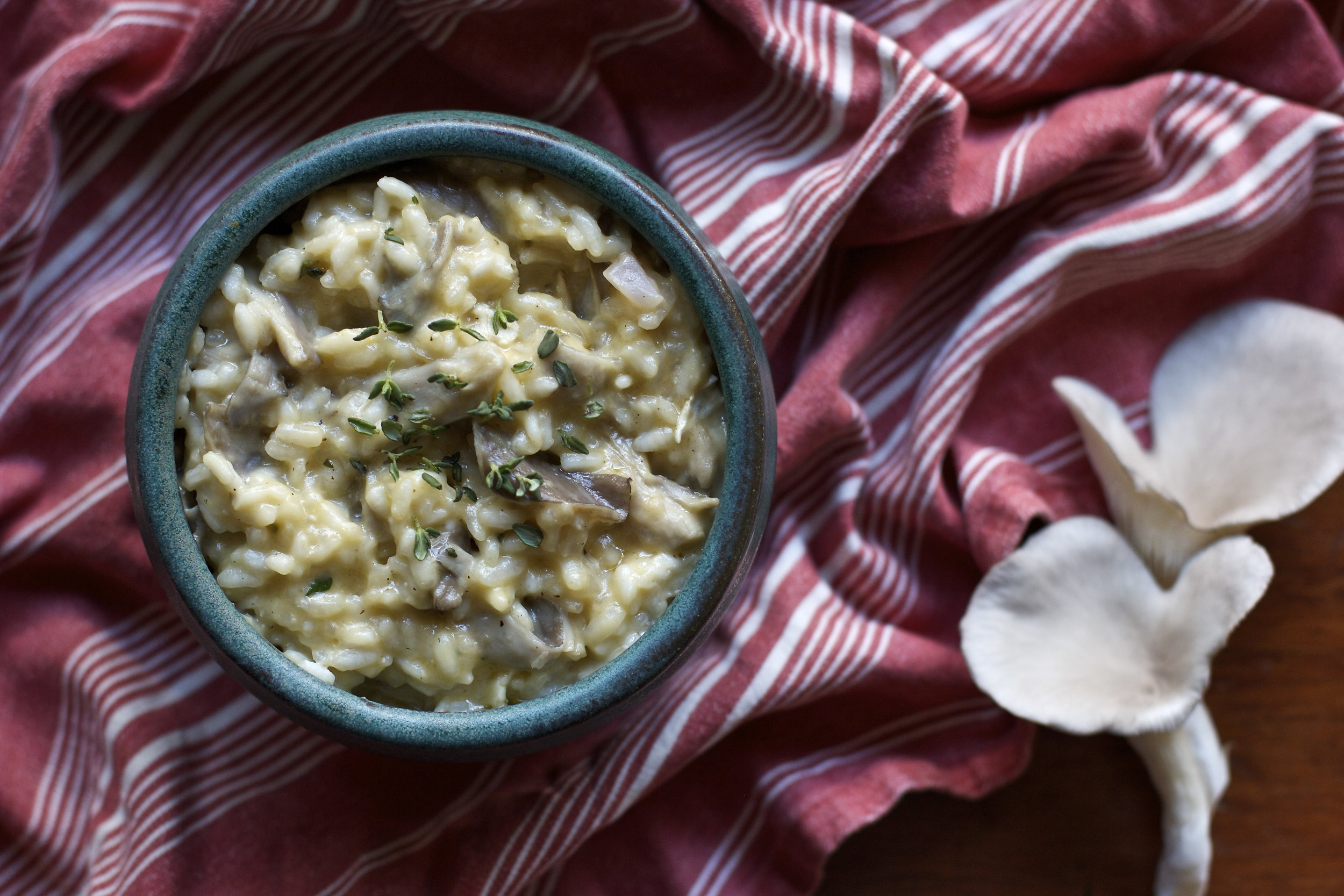 Oyster Mushroom and Brie Risotto