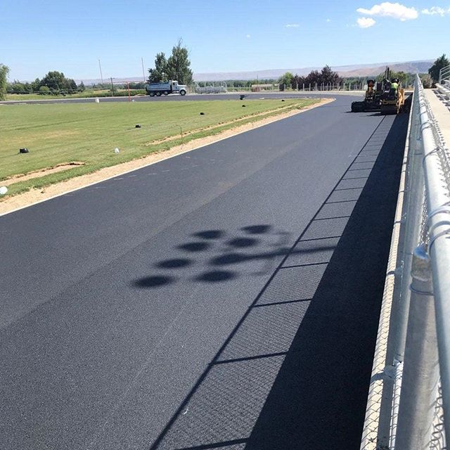 Track asphalt getting finished up by A-Line Paving with Central Washington doing a great job! #ZillahHighSchool #Athletics #Construction #Paving