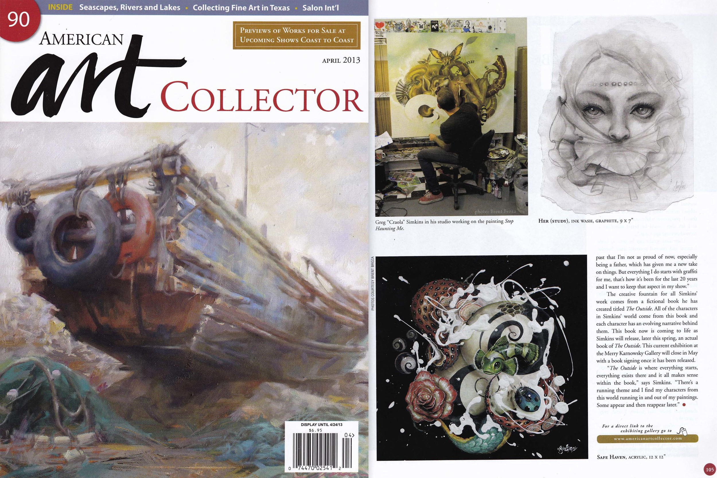 "April 2013 - American Art Collector, Artist Greg ""CRAOLA"" Simkins"