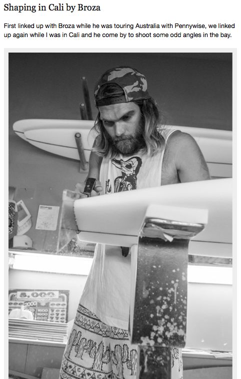 September 13, 2013 - Dead Kooks Surfboard Shaper, Eden Saul