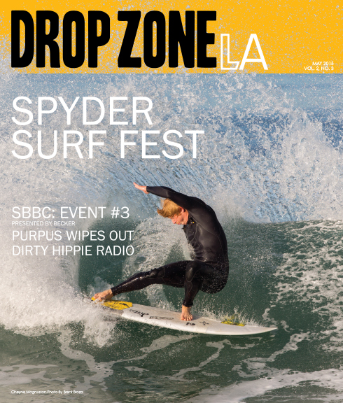 MAY 2015 - DROP ZONE MAGAZINE COVER, CHEYNE MAGNUSSON