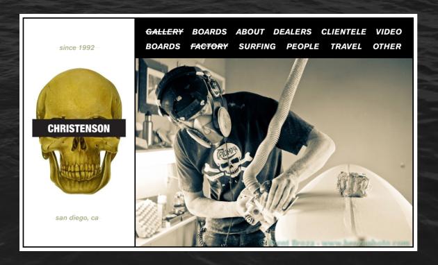 September 9, 2011 - Surfboard Shaper, Chris Christenson Website