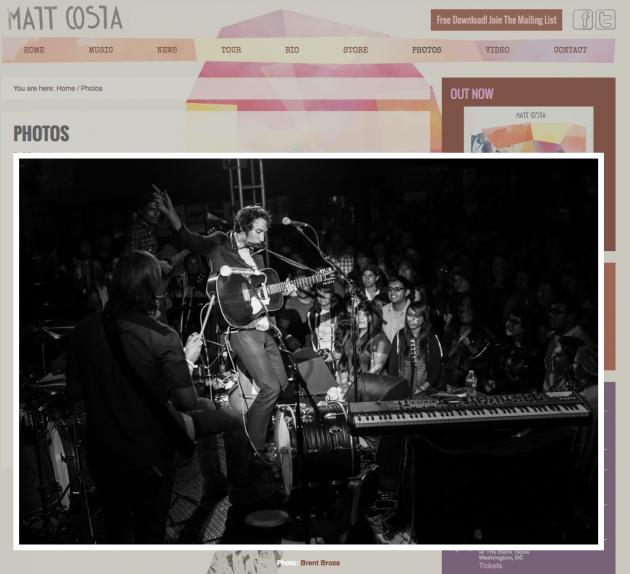 March 21, 2013 - Matt Costa Website