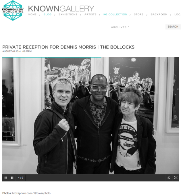 August 9, 2014 - Known Gallery – Private Reception for Sex Pistols Photographer, Dennis Morris