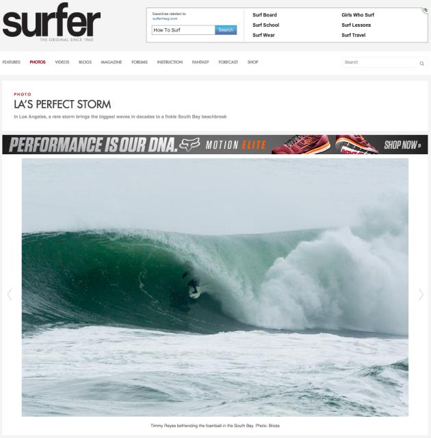 March 2, 2014 - Surfer Magazine, Timmy Reyes