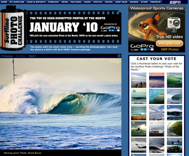 January 2010 - Surfline Photo of the Month Challenge