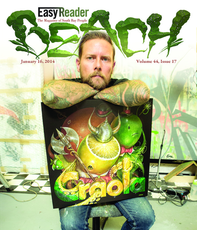 January 16, 2014 - BEACH MAGAZINE COVER - Artist, CRAOLA