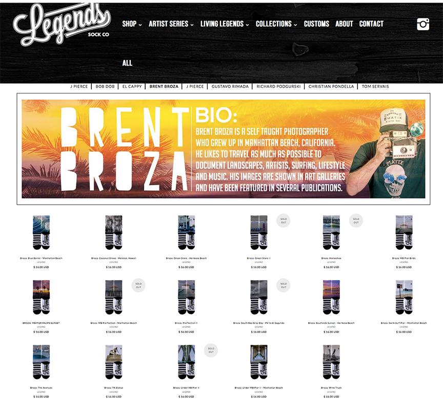 Legends Socks - Broza Artist Series