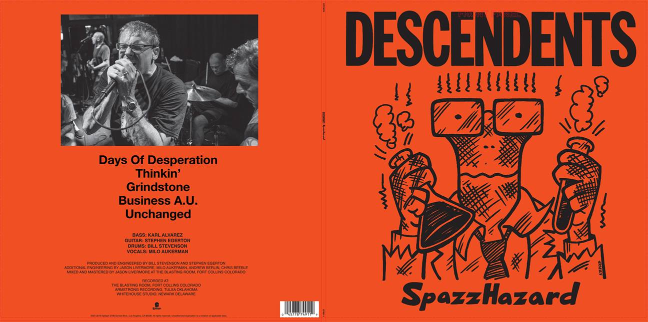 "July 29, 2016 - Descendents ""SpazzHazard"" Back Album Cover"