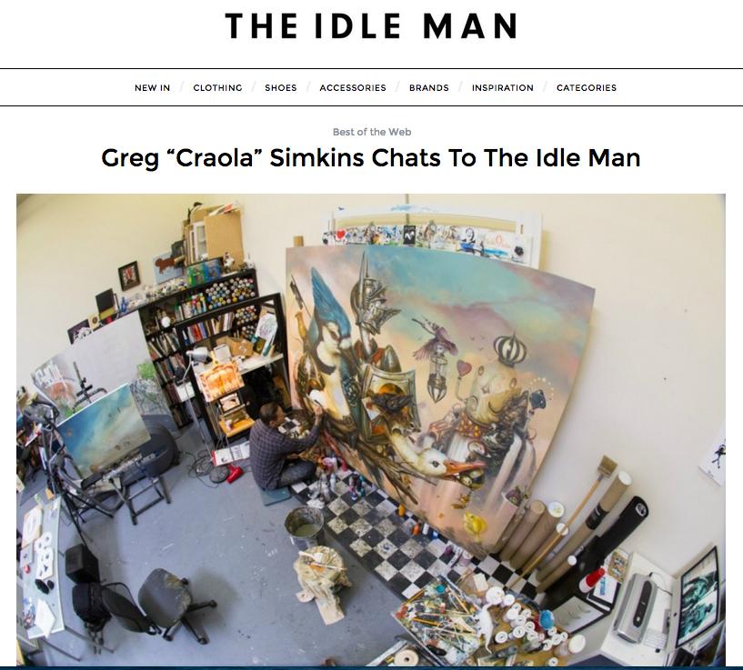 """The Idle Man - Greg """"CRAOLA"""" Simkins"""