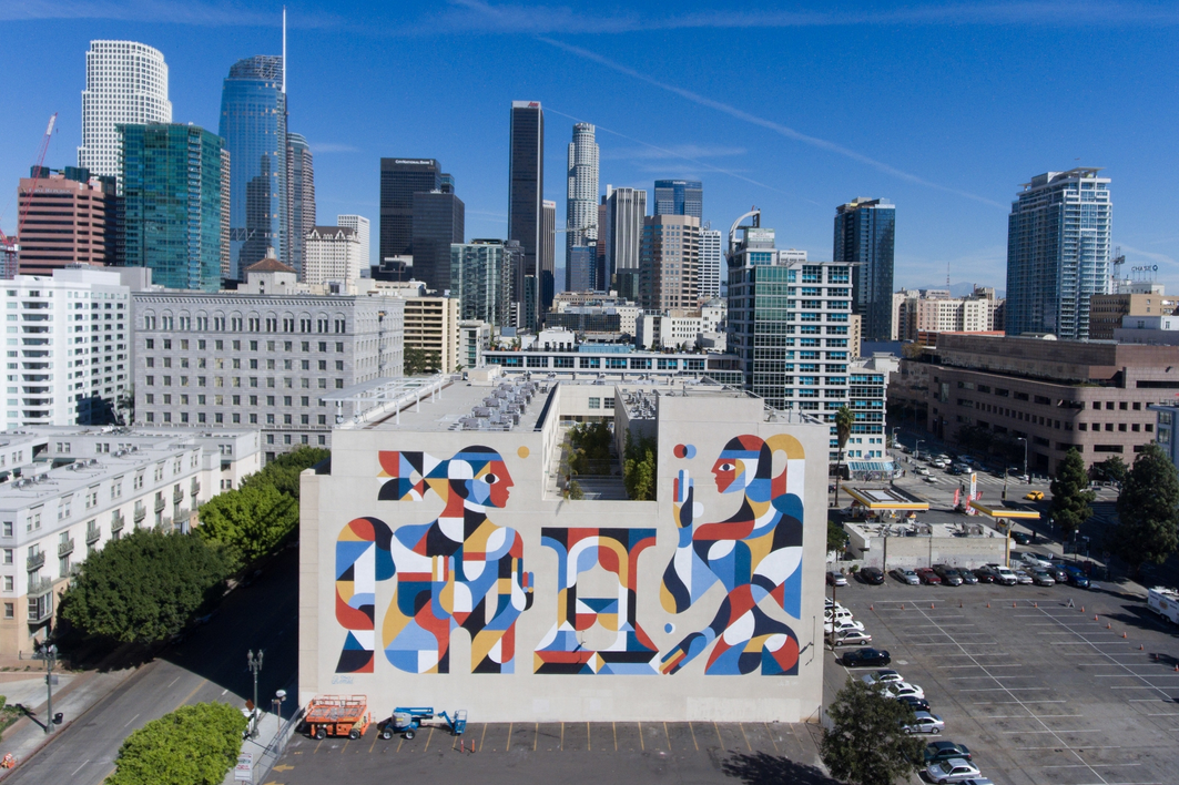 October 26, 2016 - YAHOO News - Artist, Remed Art Mural, South Park LA