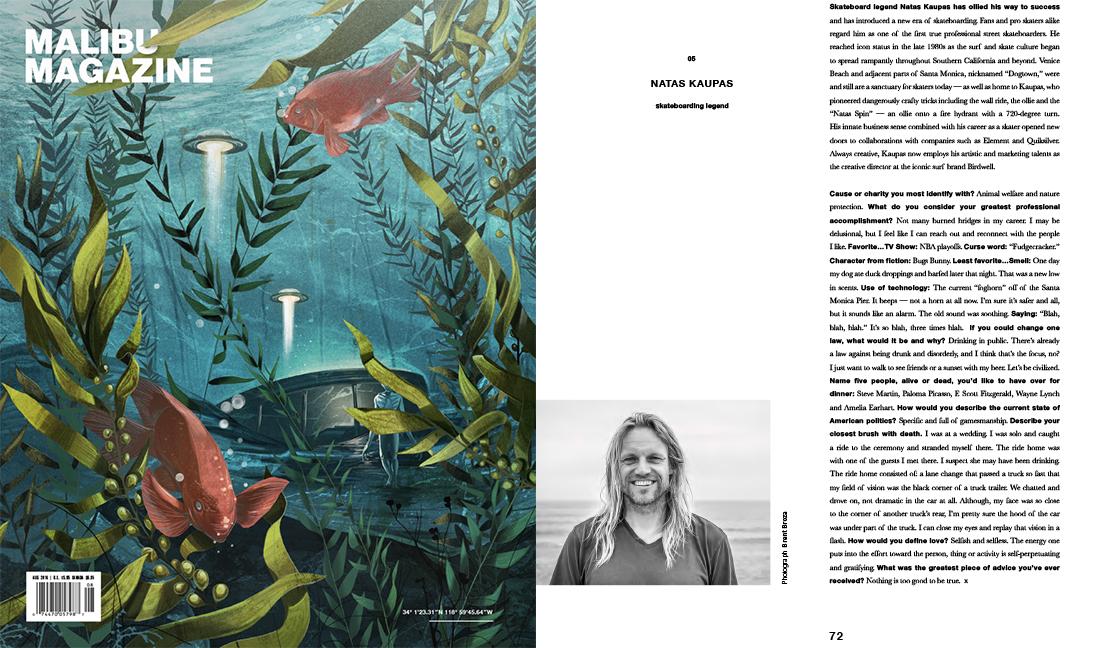 July/August 2016 - Malibu Magazine - Portrait of Natas Kaupas