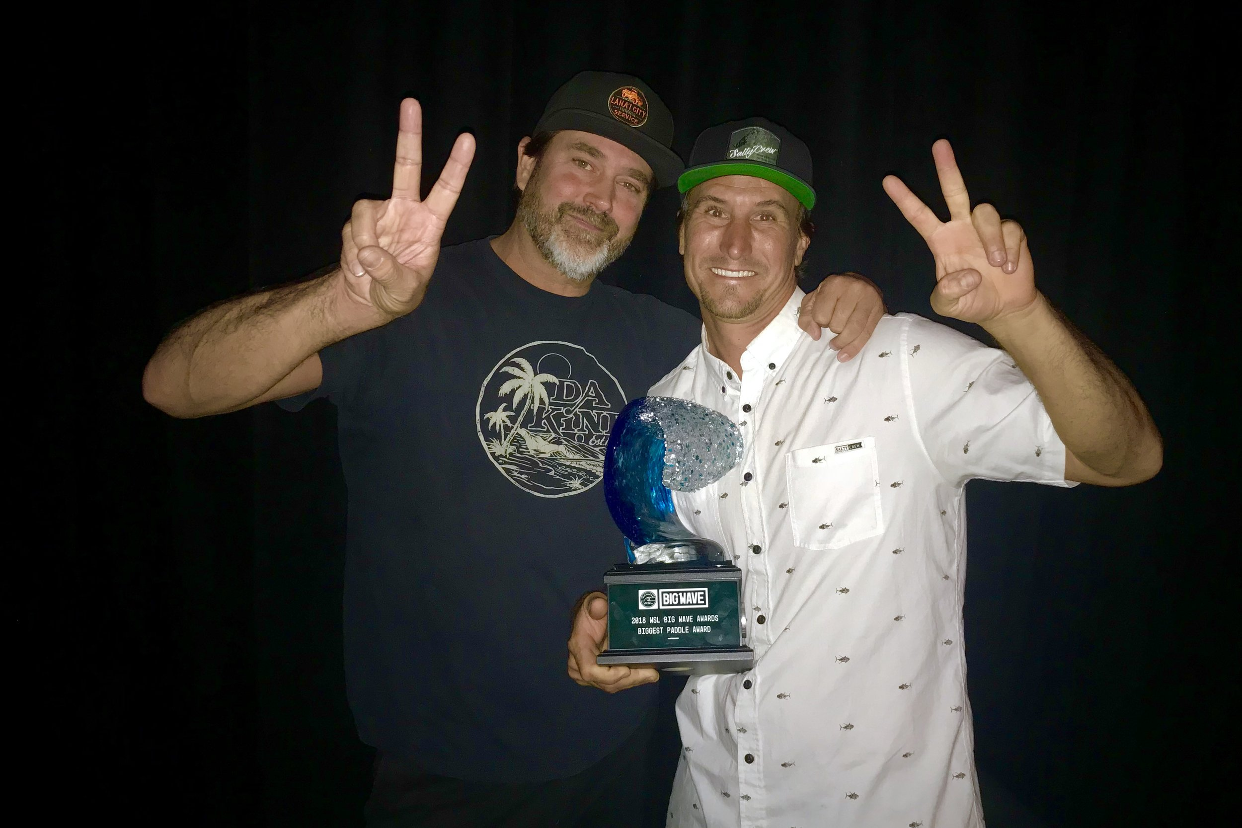 April 28, 2018 - WSL Big Wave Awards - Photographer Brent Broza & Surfer, Aaron Gold, 2X Award Winners at Jaws in 2016 & 2018