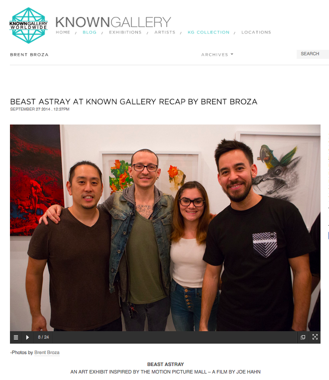 SEPTEMBER 24, 2014 - BEAST ASTRAY AT KNOWN GALLERY